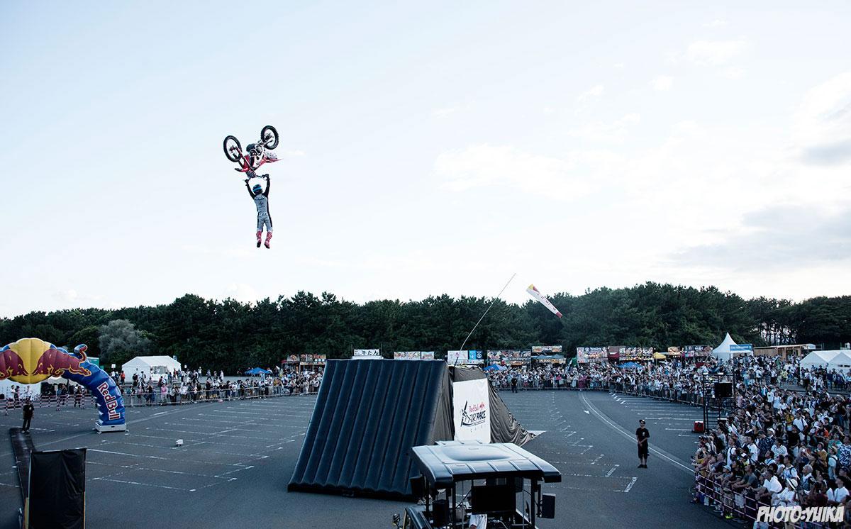 fmx freestylemotocross フリースタイルモトクロス Red Bull Air Race Chiba 2019 レッドブル エアレース 千葉  江原大空 ehara sora sola  FMXSHOWCASEentertainment FMXショーケース